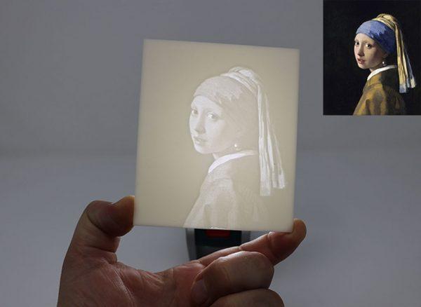 Bild-Lithophane-Frau